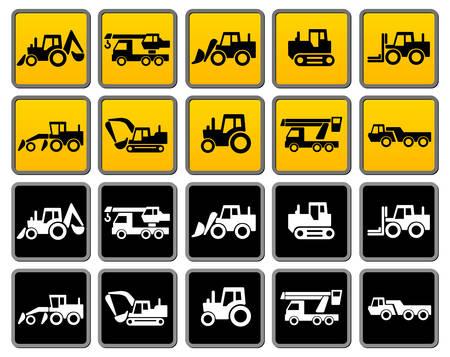 dumper: Transportation silhouettes collection, icons design element,  illustration