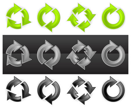 Set of different arrows circles Stock Vector - 8162910