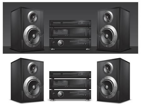 Sistema de audio, centro de música de alta fidelidad
