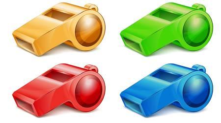 Kleur whistle   Vector Illustratie