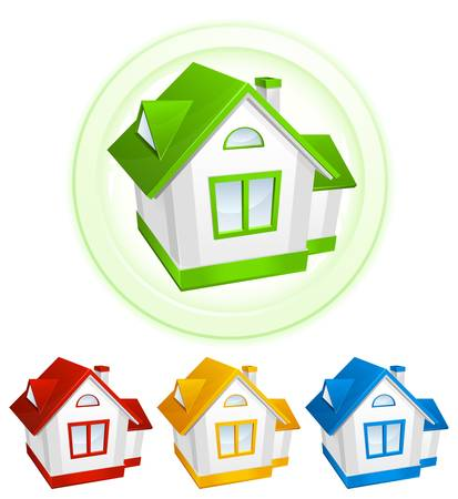 Color model of house, environment concept Stock Vector - 14384626