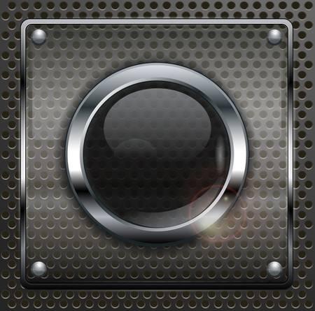buttons: Pulsanti web rotonde sui metallizzato scuro illustrazione vettoriale maglia,