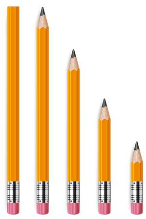 wooden pencil: Wooden sharp pencils isolated on white background Illustration