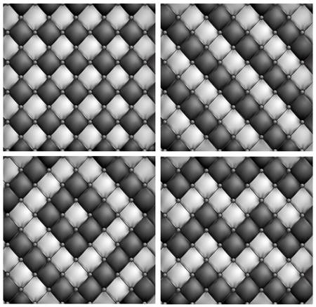 acolchado: Dos tapicer�a de cuero color de fondo, ilustraci�n vectorial