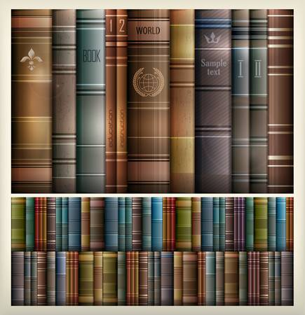 bibliography: New book stacks color background, vector illustration
