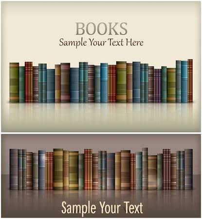 bibliotecas: N�mero de nuevos libros de texto en blanco, ilustraci�n vectorial Vectores