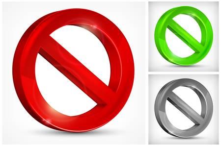 slash: red slashed circle on white background, vector illustration