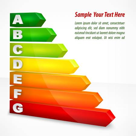 Energy efficiency rating color with arrows on white, vector illustration Stock Vector - 20244026