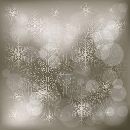 rime: Christmas background with snowflakes and shiny star, vector illustration Illustration