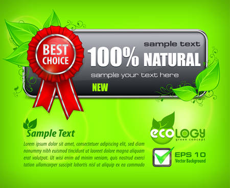 best choice: Red award banner with label best choice & text on green, vector illustration