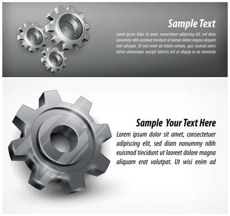 Gears background & text in grey Vector