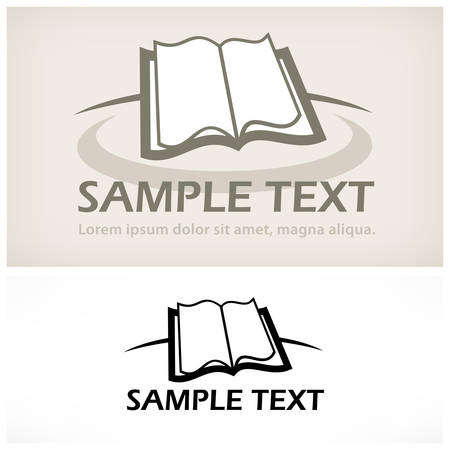 read book: Open book symbol isolated on white, vector illustration