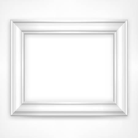 Bild weißen Holzrahmen isoliert auf weiß, Vektor-Illustration Illustration