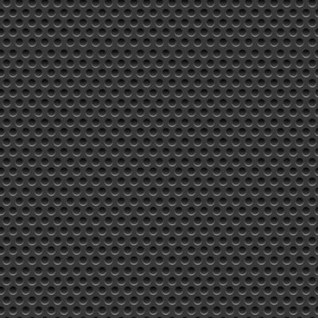 ilustración de vector de metal perforado oscuro perforado