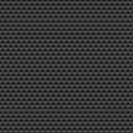 Perforated dark metal background, vector illustration