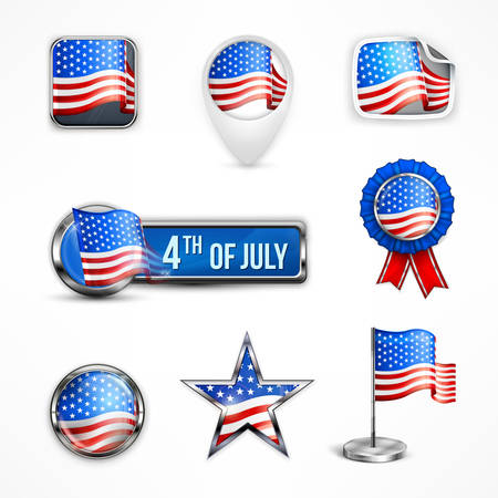 Independence Day icons, vector illustration for independents day celebration