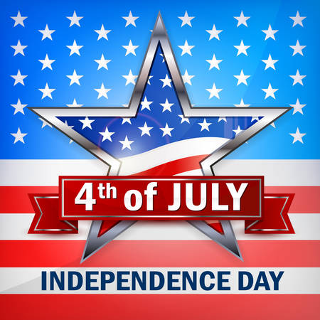 Independence Day star banner, vector illustration for independents day celebration