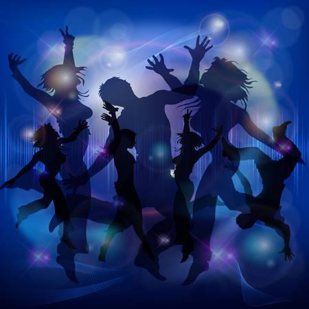 Activity dance figures poster. Vector illustration of woman dancing, yoga, acrobatics, sports. Vettoriali