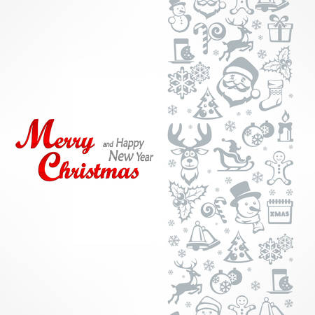 Merry Christmas card, for New Year and Christmas design.