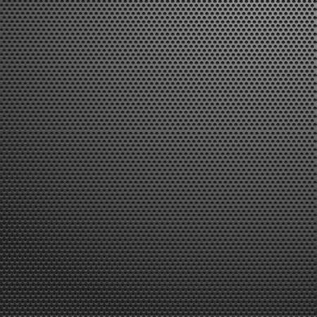 Perforated dark metal background. Vector illustration. Vectores