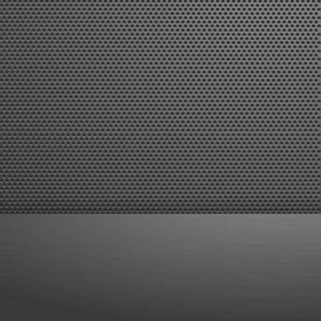 Metal dark background. Vector illustration