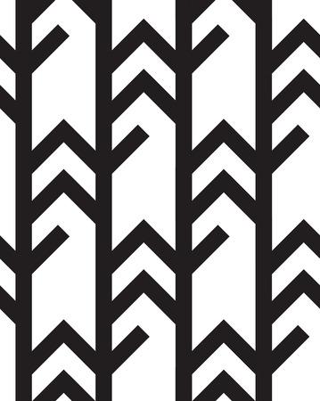 zig zag: Seamless Black And White background Geometric Lines Zig Zag Pattern Illustration