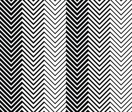Geometric seamless background with black and white zig zag pattern