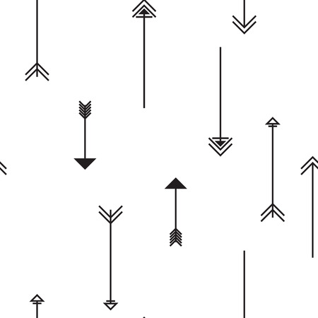 wall hanging: Tribal arrows on white background. Seamless pattern. Can be used for desktop wallpaper or frame for a wall hanging or poster,for pattern fills, wedding decor, web page backgrounds, textile and more. Illustration