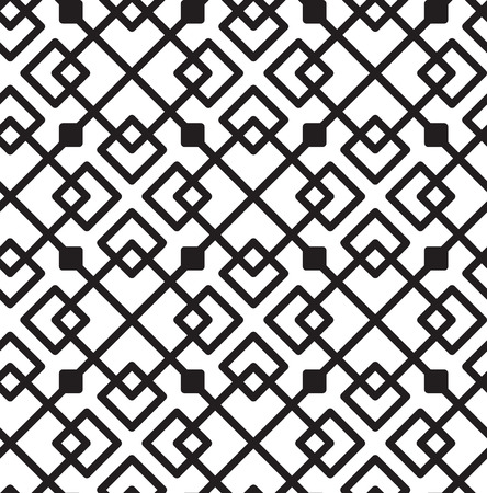 square shape: Seamless Black And White background Geometric Lines Square Shape Pattern