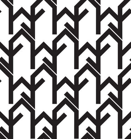 zig zag: Seamless Black And White background Geometric Lines Zig Zag Pattern Illustration