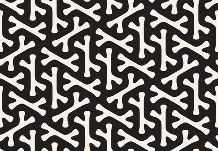 rounded: Seamless Black and White Rounded Bone Shape Pattern Abstract Background