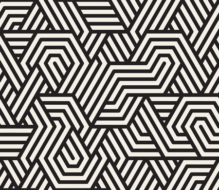 Seamless Black And White Irregular Triangle Lines Geometric Pattern Abstract Background