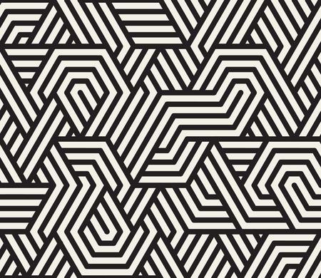 Seamless noir et blanc irrégulière Triangle Lines motif géométrique, résumé, fond