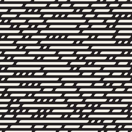 Nahtlose Schwarzweiß gestrichelte horizontale Linien Geometrische Muster Zusammenfassung Hintergrund