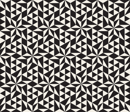 tessellation: Seamless Black and White Geometric Star Tessellation Pattern  Abstract Background