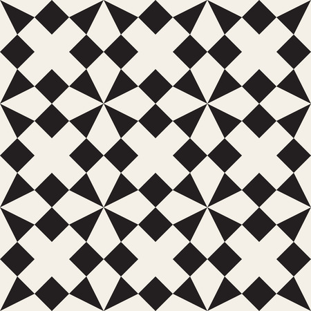 tessellation: Seamless Black and White Triangle Square Geometric Tessellation Pattern Abstract Background
