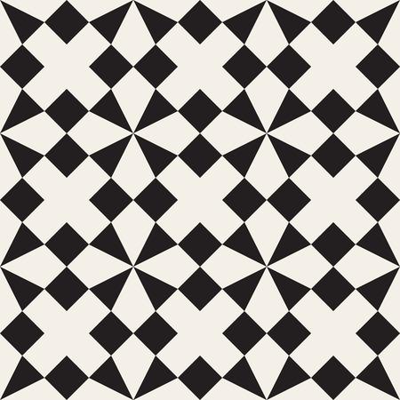 Seamless Black And White Triangle Square Geometric Tessellation ...