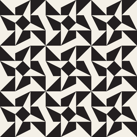 tessellation: Seamless Black and White Triangle Star Geometric Tessellation Pattern Abstract Background