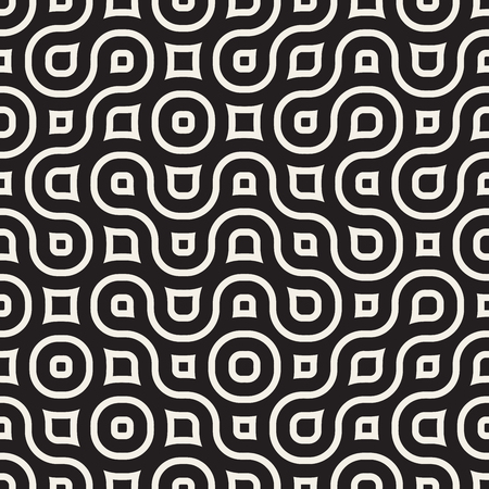 irregular: Seamless Black And White Geometric Rounded Irregular Pattern Abstract Background