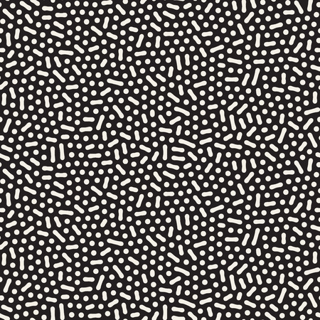 jumble: Seamless Black And White Jumble Organic Lines Pattern Abstract Background Illustration