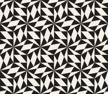 tessellation structure: Vector Seamless Black And White Triangle Lattice Geometric Pattern. Abstract Geometric Tessellation Background Design