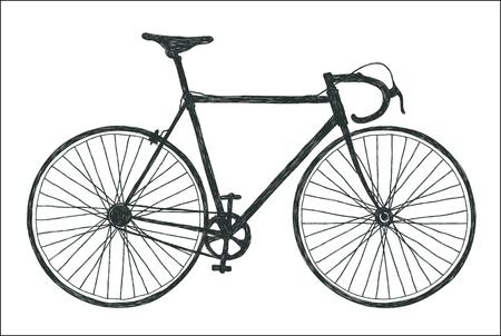 ciclos: bicicleta de carretera clásico, árbol estilizado ciclos fixie