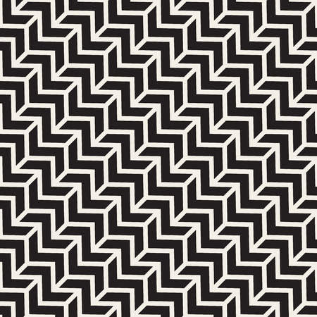 stripes seamless: Vector Seamless Black And White Chevron ZigZag Diagonal Lines Geometric Pattern. Abstract Geometric Background Design