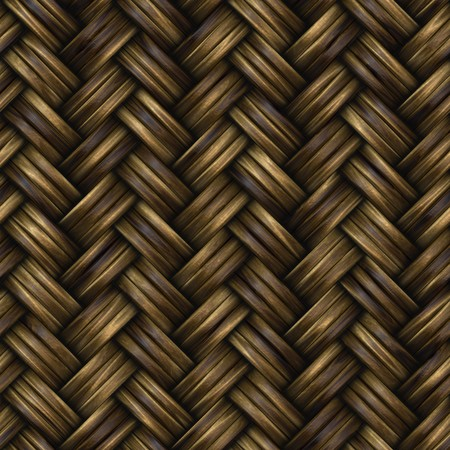 basketry: Raster Seamless Basket Twill Weave Pattern Realistic Wooden Surface Texture