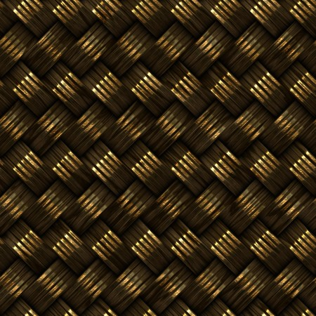 weave: Raster Seamless Metalic Golden Twill Weave Pattern Texture Rendering