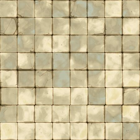 stonewall: Raster Seamless Grungy Brick Floor Tiling. Realistic Texture Rendering Stock Photo