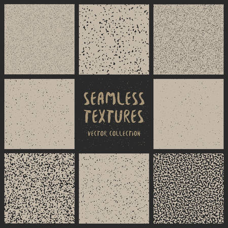 dirt texture: Vector Seamless Black And White Grunge Texture Patterns Collection