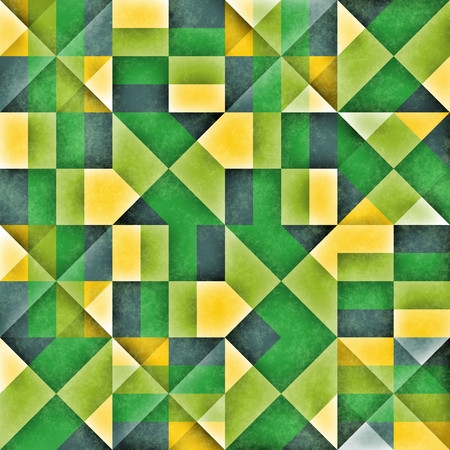 cubismo: Raster Seamless Green Grey Shades Irregular Pattern. Abstract Geometric Background Design Foto de archivo