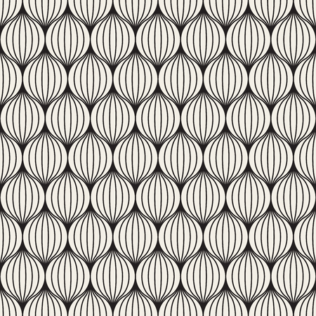 circles pattern: Vector Seamless Black And White Stripes in Circles Pattern. Abstract Geometric Background Design Illustration