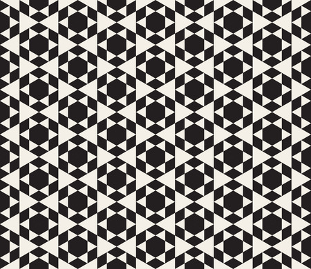 Vector Seamless Black And White Triangle Tessellation Pattern